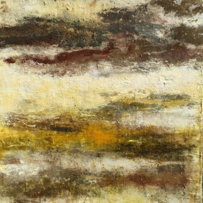 Lignes sauvages - Huile, 100x100 cm