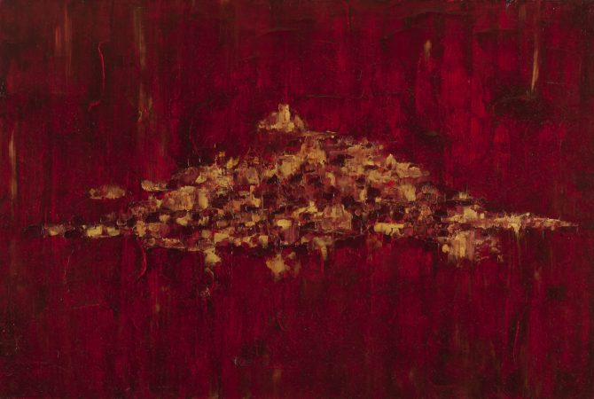 Paysage Secret - Huile, 80x54 cm