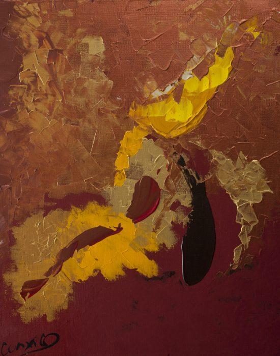 Premiers mouvements - Acrylique, 38x46 cm