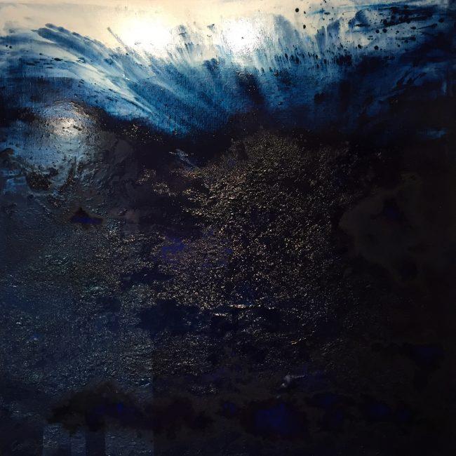 Envol Aquatique - Huile, 130x130 cm