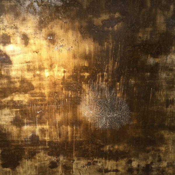 Jardin d'eau - Huile, 150x150 cm